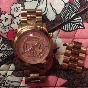 Unisex Rose Gold Michael Kors Smart Watch
